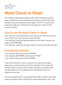 Adult mood check in sheet - printable