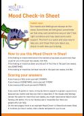 Children's mood check in sheet - printable