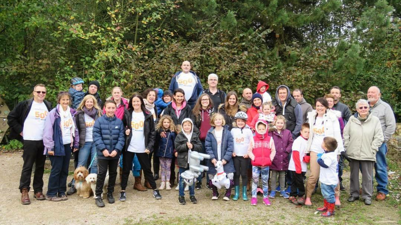 A group of walkers tackle 5k for Mast Cell Action