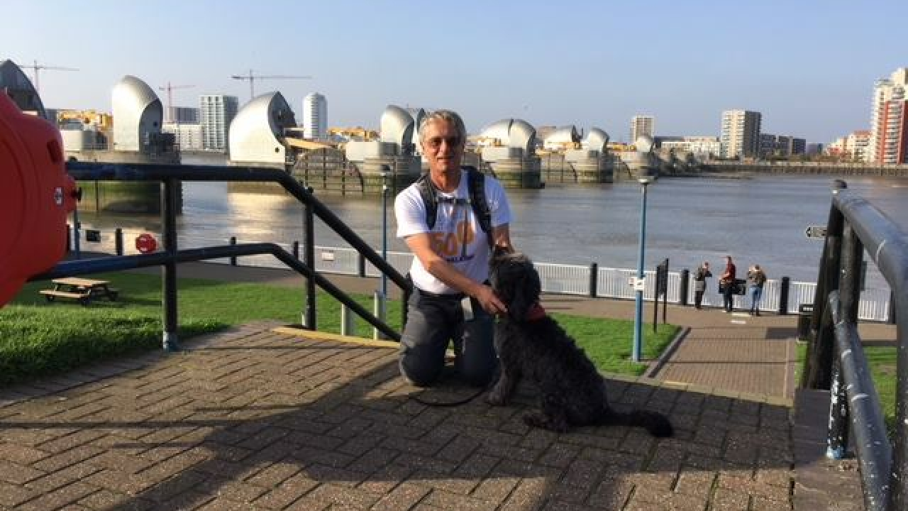Chris, one of our Trustees, on a charity walk