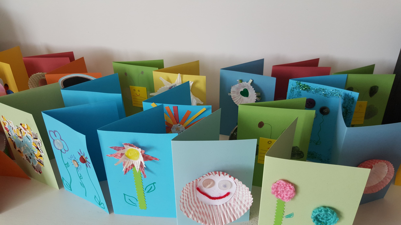 Anna and Alfie made 500 cards
